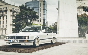 Picture Car, White, E30, LowSociety, BMW, Stance