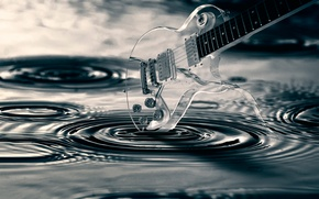 Picture water, transparency, guitar