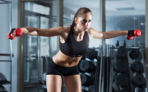Picture fitness, gym, dumbbells, sportswear