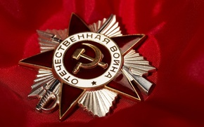Wallpaper red, awards, Order of the Patriotic war, May 9, victory day