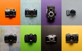 Wallpaper vintage, cameras, collection