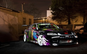 Picture night, before, drift, Toyota, Monster Energy, Toyota, Drift car, Soarer
