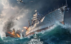 Picture sea battle, World of Warships, The World Of Ships