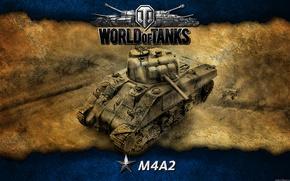 Picture art, tank, USA, tanks, WoT, World of Tanks, M4A2