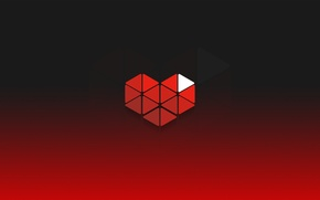 Picture heart, red, hearts, youtube, gaming, gamers