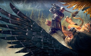 Picture Sword, The Witcher, Geralt, Witcher, Griffin