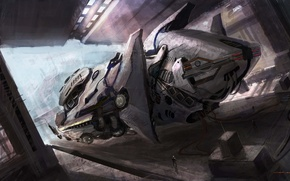 Picture people, ship, art, cloudminedesign, vehicle concept