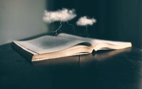 Picture rain, lightning, art, book