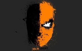 Picture minimalism, comics, hero, mask, deathstroke