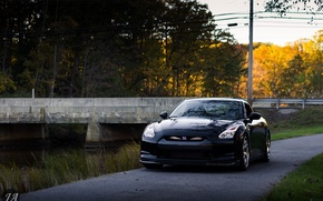Picture nissan, black, japan, jdm, tuning, gtr, r35, nismo, datsun