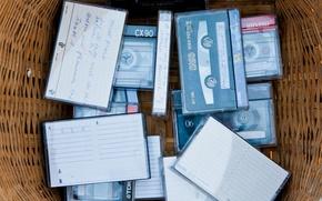 "Picture retro, music, basket, ""TDK"", ""Maxall"", audio tapes, nostalgia"
