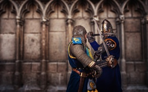 Picture soldiers, armor, fighting, swords, medieval