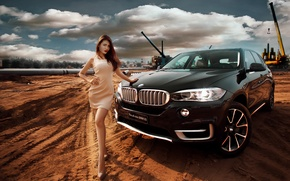Picture girl, pose, BMW, Asian