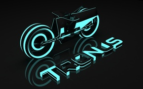 Picture neon, dark, tron, the cycle, 3dsmax