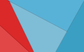 Picture line, red, abstraction, blue, geometry