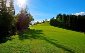 Picture the sky, nature, meadow, Austria, Graz