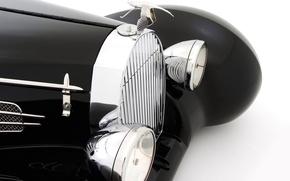 Picture retro, headlight, grille, emblem, Suite, Hispano-Suiza