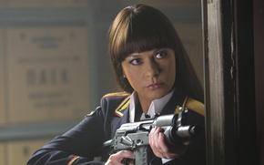 Picture machine, form, Kalashnikov, Catherine Zeta-Jones, RED 2, Catherine Zeta-Jones, RED 2