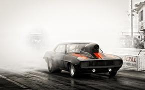 Picture race, black, track, Chevrolet, Camaro, muscle car, Camaro, Classica
