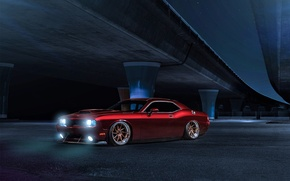 Picture Muscle, Dodge, Challenger, Red, Car, Candy, Front, American, Wheels, Before, Garde