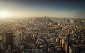 Picture the city, view, megapolis, New York, Manhattan, panorama