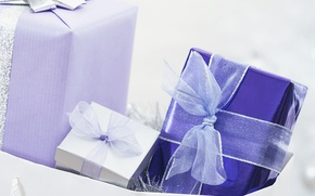 Wallpaper gifts, holiday, tape, surprise, white, ribbon, bow, blue