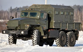 Picture snow, Armored car, Star-, Ural-4320