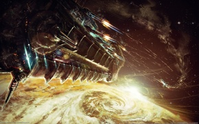 Wallpaper ship, Bulletstorm, shots, space