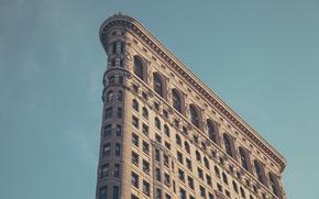 Picture the building, New York, New York, Flatiron, Building, Iron, Broadway, Fifth Avenue, Flatiron Building
