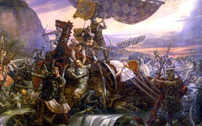 Picture picture, artist, battle, Klimenko, Svyatoslav, Last, Andrew