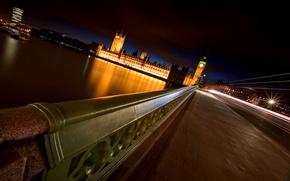 Picture night, bridge, river, London