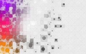 Wallpaper squares, patterns, paint, squares, abstraction, circles, 1920x1080, bokeh, abstraction, colors, patterns, circles