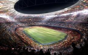 Picture Figure, Football, Barcelona, Stadium, Camp Nou, Camp Nou