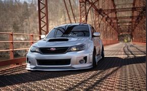 Picture tuning, turbo, white, subaru, japan, wrx, impreza, jdm, tuning, power, Subaru, sti, low, stance