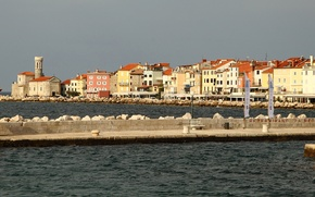 Picture sea, home, Piran, Slovenia