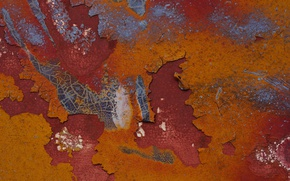 Picture surface, metal, rust