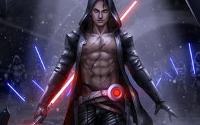 Picture star wars, fan art, lightsaber, sith