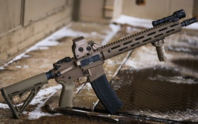 Picture weapons, collimator, assault rifle, magpul