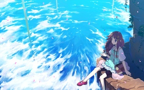 Picture the sky, leaves, clouds, the wind, sitting, tamaki juice