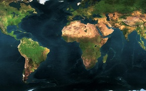 Wallpaper planet, earth, 156, continents, map