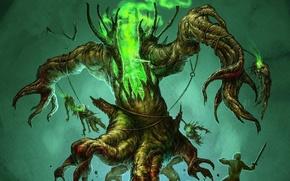 Wallpaper tree, monster, warrior, undead, dead, ENT