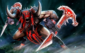 Picture weapons, art, rage, stand, Bloodseeker, Dota 2