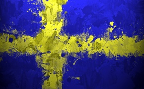 Picture paint, flag, Sweden, Sweden, Sverige