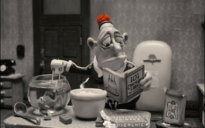 Wallpaper flour, fish, flour, cartoons, funny, chocolate cake, cook, funny, Mary and Max, cartoon, chocolate cake, ...
