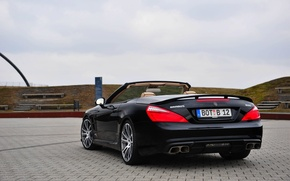 Picture Mercedes-Benz, Auto, Black, Convertible, Brabus, AMG, SL65, BRABUS
