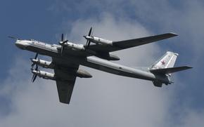 Picture the sky, flight, bomber, missile, strategic, turboprop, Tu-95