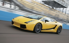 Picture road, machine, gallardo, lamborghini, Lamborghini, yellow, mark, Italian