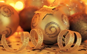 Wallpaper holiday, background, picture, decoration, Christmas, gold, tape, Wallpaper, new year, mood, Christmas