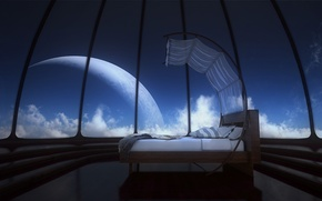 Picture the sky, clouds, design, planet, the dome, the dreaming room