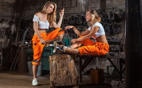 Wallpaper models, workers, poses, metallurgy, work clothes